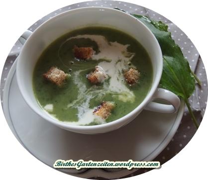 Bärlauch-Suppe mit Croutons