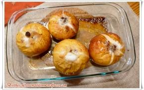 [Vollwert] Bratapfel mit Mandel-Rosinen-Füllung – mitHonig