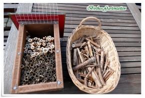 Insektenhotel neu befüllen – Vogelsicher bitte!
